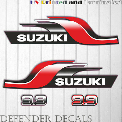Suzuki 5 hp DT5 2 stroke outboard engine decal sticker set kit reproduction 5HP
