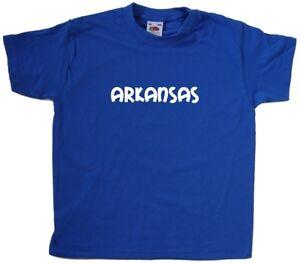Arkansas texto Kids Camiseta  </span>