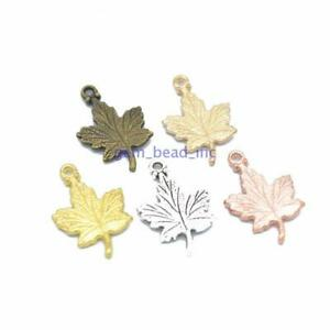 100-Pcs-Silver-Maple-leaf-Metal-Charms-Pendant-DIY-Jewelry-Making-Gifts-Necklace
