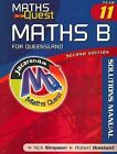 Maths Quest Maths B Year 11 for Queensland 2E Solutions Manual by Nick Simpson, Robert Rowland (Paperback, 2009)
