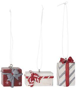 Ib-Laursen-3er-Set-Paeckchen-Anhaenger-Geschenkanhaenger-Shabby-Advent-Weihnachten