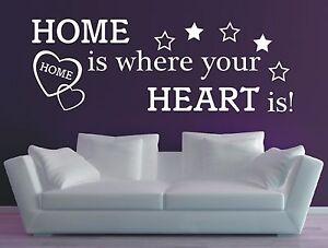 Wandtattoo Spruch / Home is where your Heart is Wandaufkleber Aufkleber Sticker