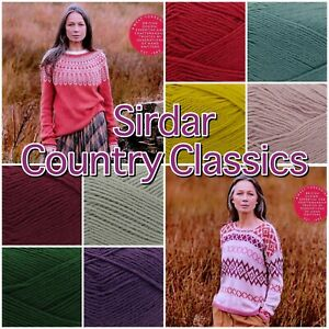 Sirdar-COUNTRY-CLASSICS-Cotton-Acrylic-4Ply-Knitting-Crochet-Yarn-50g-Ball