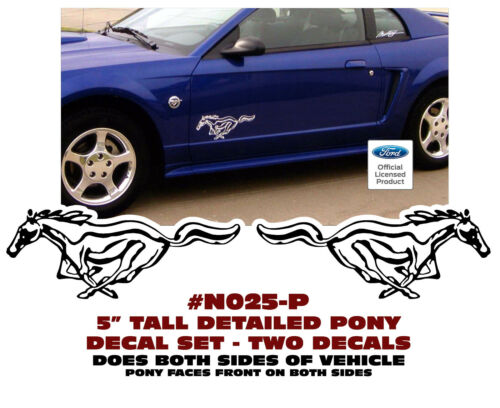"""DETAILED PONY DECAL 5/"""" TALL TWO DECAL SET N025-P MUSTANG"""