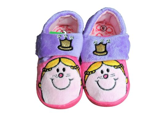 Le Ragazze Pantofole PERSONAGGIO-Little Miss Princess-CROWN Pantofole Con