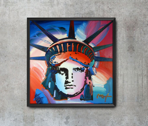 Framed Liberty Peter Max Home Decor Wall Art Poster 47 36 24 16 Inches