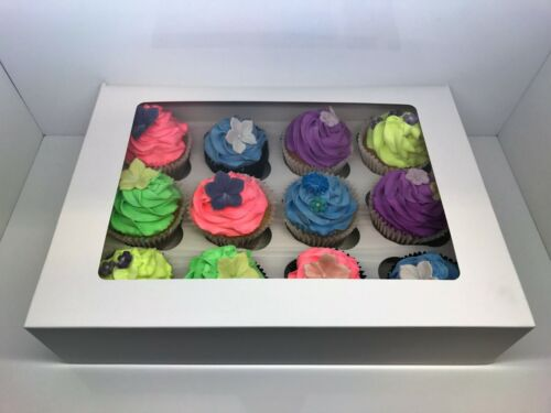 """10/"""" White Cake /& Cupcake Boxes for 4 6 16/"""" Box 12/"""" 14/"""" 12 Cup Cakes 8/"""""""