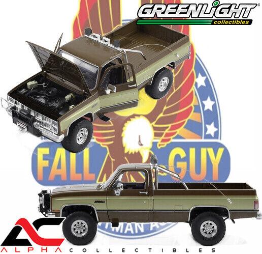 GREENLIGHT 13560 1982 GMC K-2500 SIERRA FALL GUY STUNTMAN ASSOCIATION 1//18 BROWN