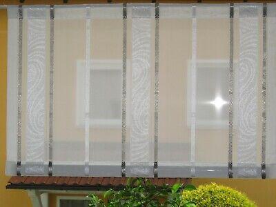 Jacquard Scheibengardine Schiebevorhang Gardine Halbtransparent Paneel 90 x 250