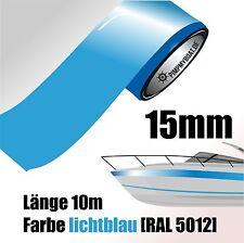 ZIERSTREIFEN 10m LICHTBLAU 15mm Auto Boot Jetski Modellbau Vinyl Dekorstreifen