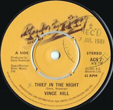 Vince Hill ORIG UK 45 Thief in the night NM '81 Celebrity ACS7