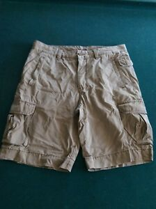 322f59c8e2 Express Men's Khaki Cargo Shorts Size 34 Zipper Fly Button Close ...