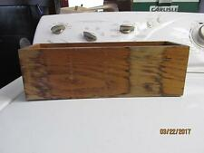Vintage Wooden Card Drawer With slot In Bottom Post Office Card file