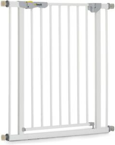 Safety Gate for Doors and Stairs Autoclose N Stop 84 -89cm Large White Metal