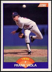 Frank Viola C380 Twins #290 puntuación de 1989 Tarjeta de béisbol
