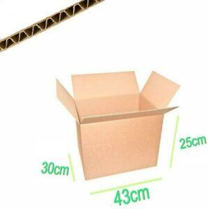 10-Scatole-di-Cartone-43x30x25-MEDIE-per-Trasloco-Imballaggio-Spedizione