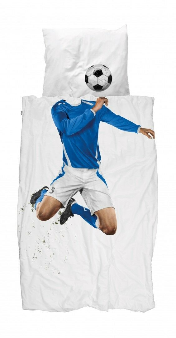 LINGE DE LIT footballeurs Enfants Linge De Lit Snurk 135 cm x 200 cm 100% coton NOUVEAU