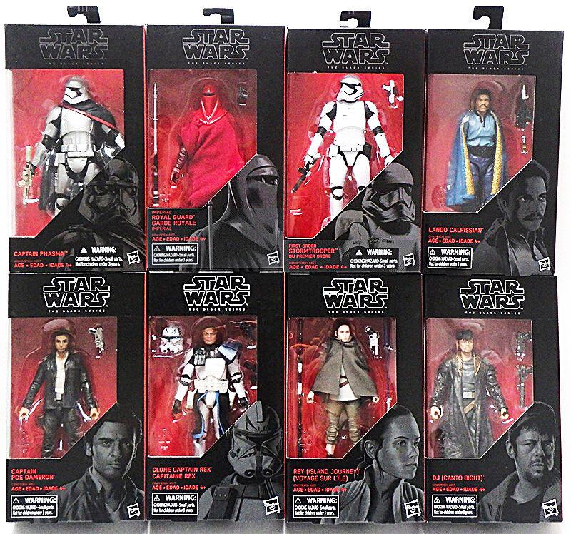 HASBRO Star Wars Nero Serie EP8 ultima Jedi 6  figura di caso di 8 Nuovo In Magazzino
