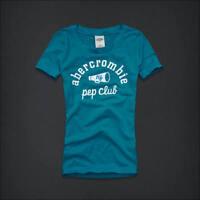 Abercrombie Kids Blue Logo Graphic Top Tee Size M 8 L 10