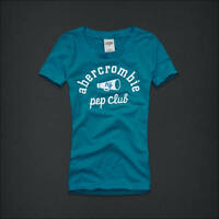 Abercrombie Kids Blue Logo Graphic Top Tee Size M 8 L 10