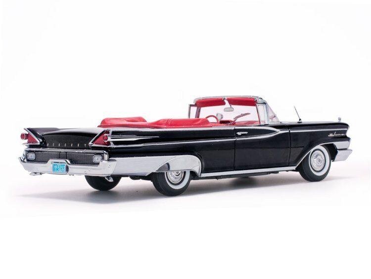 1959 Mercury Mercury Mercury Parklane converdeible en negro en escala 1 18 por SUNSTAR SS5153 14879c