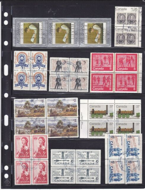 CANADA lot of 10 old used blocks (339)