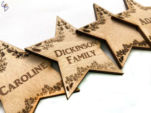 Wedding// Favor Personalised Star Place Name table setting //Christmas Party