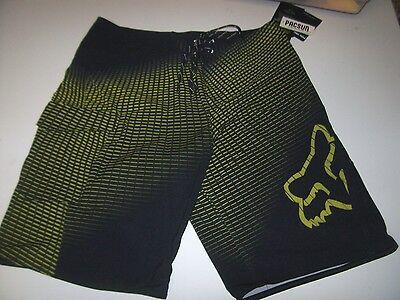 NEW FOX RACING board shorts swimsuit swim  Q4 4 way stretch BEDE yellow black