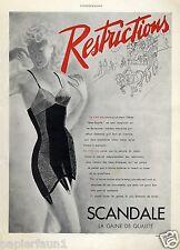 Scandale XL franz Reklame 1941 Mieder Strumpfhalter Hüfthalter Skandal Besatzung