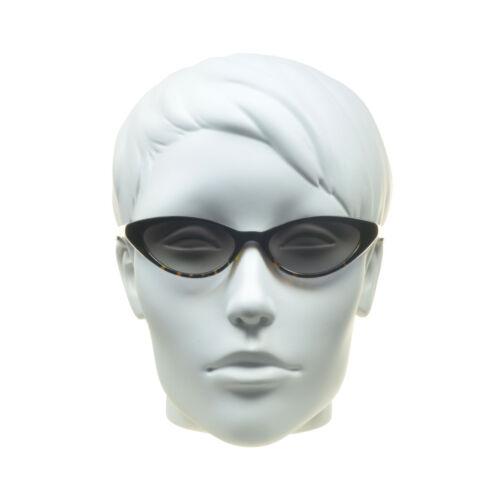 Super Schmal Dünn Cat Eye Sonnenbrille Mode Damen Brille Plastik Schwarz Braune