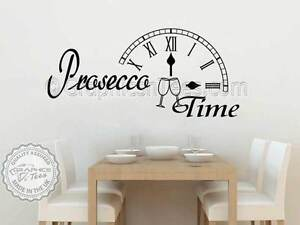 Prosecco Time Wall Sticker, Funny Kitchen Quote Bar Restaurant Wall ...