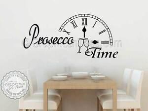 Prosecco Time Wall Sticker Funny Kitchen Quote Bar Restaurant - Citation sur la cuisine