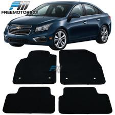 Fits 08 16 Chevrolet Cruze Front Rear Floor Mats Carpet Black Nylon 4pc Set Fits 2012 Chevrolet Cruze Lt