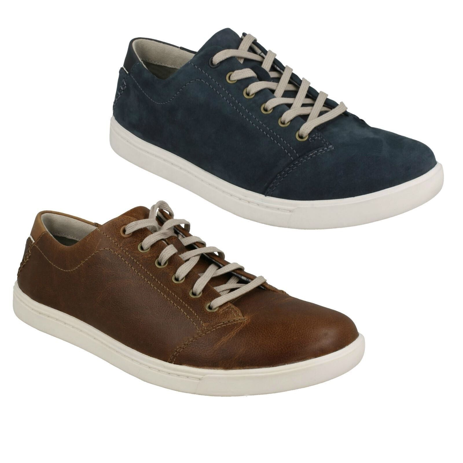 NEWOOD STREET MENS CLARKS LACE UP LEATHER CASUAL OUTDOOR TRAINERS SHOES PUMPS