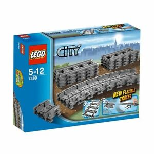 BRAND-NEW-LEGO-CITY-FLEXIBLE-AND-STRAIGHT-TRAIN-TRACKS-TRACK-7499-SEALED