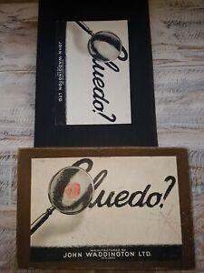 Cluedo-JUEGO-DE-MESA-Por-John-Waddington-Vintage-2-Pieza-Edicion-Completa