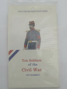 Ten-Soldiers-of-the-Civil-War-Military-Post-Cards-Set-1-by-Devereux-Ind-Sealed
