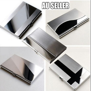 Business Card Holder,Stainless Steel ID Card Cases Organizer Case Box for Male Female Credit Card Silver