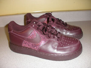 315115-802 Nike Deep Burgundy Air Force 1 Shoes Sz 10