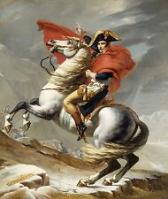 Napoleon Crossing the Alps Jacques-Louis David 24x36 poster