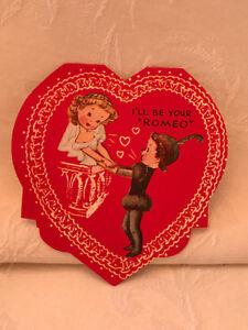 vintage ameri card romeo juliet heart shaped valentine card ebay