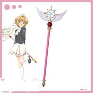 New-Anime-Card-Captor-Sakura-Kinomoto-Star-Cane-CLEAR-CARD-Cosplay-Magic-Wand