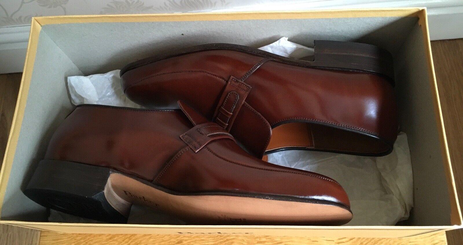 Barker G G G Campbell Legno Marronee Fine Leather Mocassini Scarpa Mocassini nuovo con scatola | Outlet Store Online  77b596