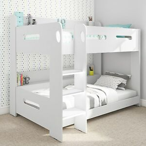 Cool White Bunk Bed Fit Ladder Either Side Fits Standard Uk