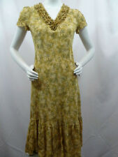 SUNDANCE CATALOG Women's Prairie Silk Print Mid Long Boho Hippie Dress 2 Small