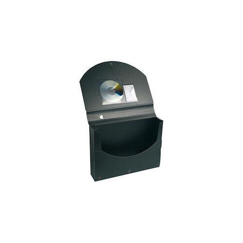 Exacompta Dokumentenbox A4 »Exactive« schwarz Druckknopfverschluss