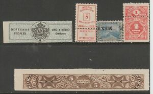 Mexico-Cinderella-mix-Revenue-fiscal-collection-stamp-ml86-as-seen