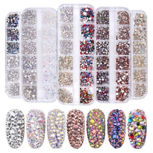 9eac14b292 Details about Flat Back Nail Rhinestones Gem 3D Colorful Shiny Crystal Nail  Art Decoration DIY