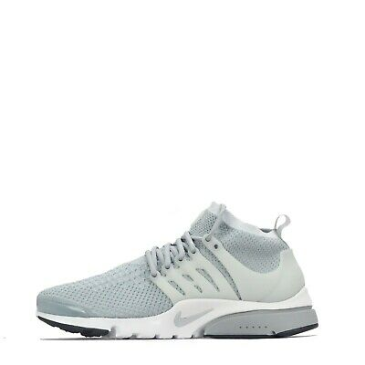 Nike Air Presto Ultra Flyknit Men's Lace Up Trainers Shoes, GreyWhite | eBay