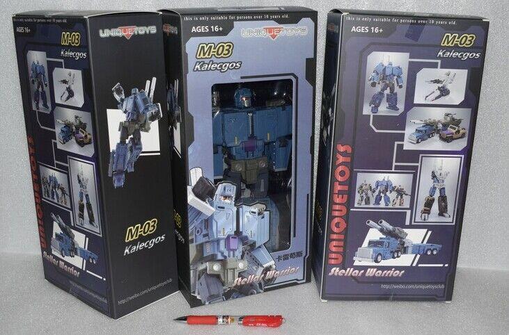 Nuevos Transformers Unique Juguetes ut M-03 kalecgos ataque figura En Stock